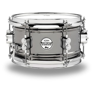 PDP Black Nickel Over Steel Snare Drum, 10 x 6