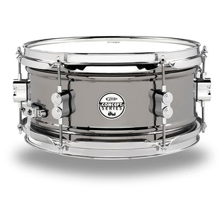 PDP Black Nickel Over Steel Snare Drum, 12 x 6