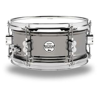 PDP Black Nickel Over Steel Snare Drum, 12 x 6