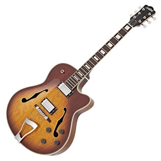 SubZero New Orleans Semi Acoustic Jazz Guitar, Sunburst