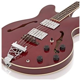 SubZero Detroit Semi Acoustic Bass, Red Wine