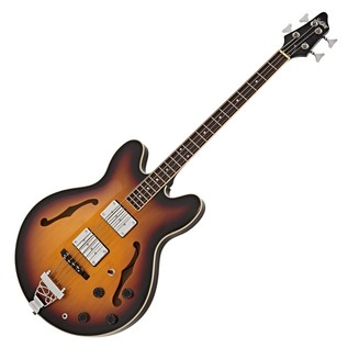 SubZero Detroit Semi Acoustic Bass, Sunburst