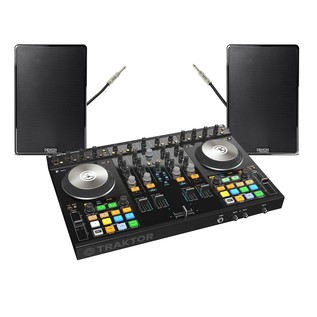 Native Instruments Traktor Kontrol S4 MK2 with Denon DN-306 Monitors - Bundle