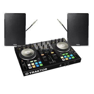 Native Instruments Traktor Kontrol S2 MK2 with Denon DN-306 Monitors - Bundle