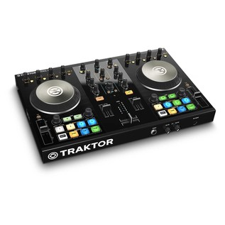 Native Instruments Traktor Kontrol S2 MK2 with Denon DN-306 Monitors - Kontrol Angled