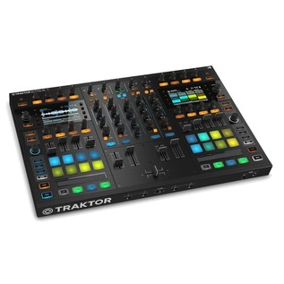 Native Instruments Traktor Kontrol S8 with Denon DN-306 Monitors - Kontrol Angled