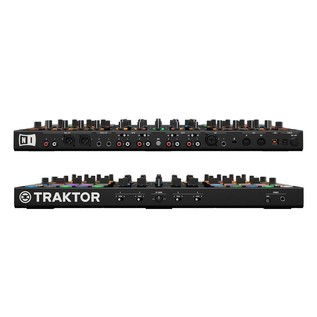 Native Instruments Traktor Kontrol S8 with Denon DN-306 Monitors - Kontrol Front and Rear