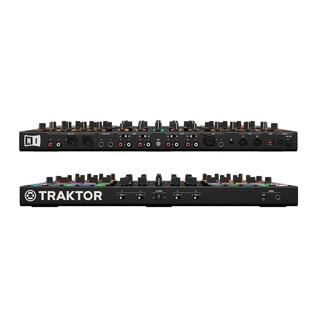Native Instruments Traktor Kontrol S8 with Denon DN-308 Monitors - Kontrol Front and Rear