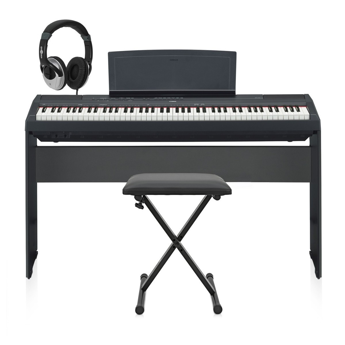 Yamaha p 115 digital piano black with matching stand at for Yamaha p115 music stand