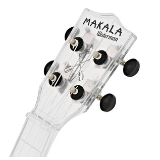 Makala Waterman MK-SWT Soprano Ukulele, Clear Transparent