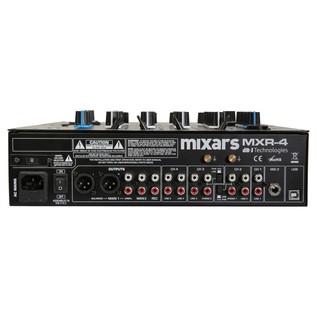 Mixars MXR4 4 Channel DJ Mixer - Rear