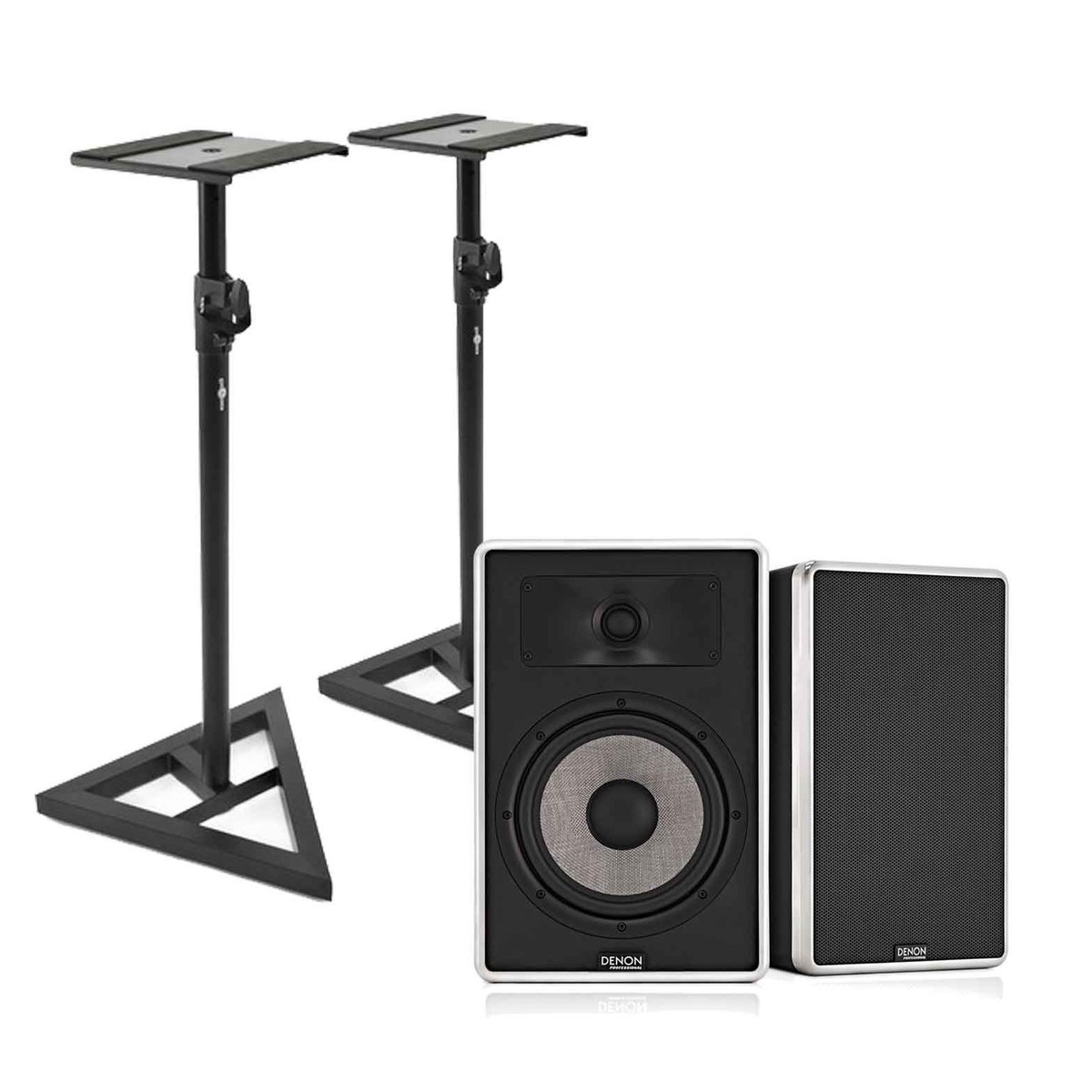 Image of Denon DN-306S Studio Monitors with Free Stands Pair