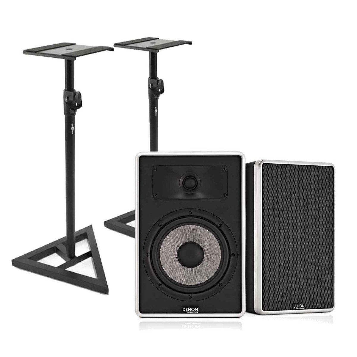 Image of Denon DN-308S Studio Monitors with Free Stands Pair
