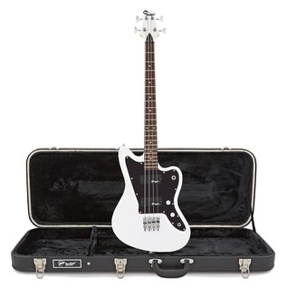 Badger Classic Bass Guitar and Case, White