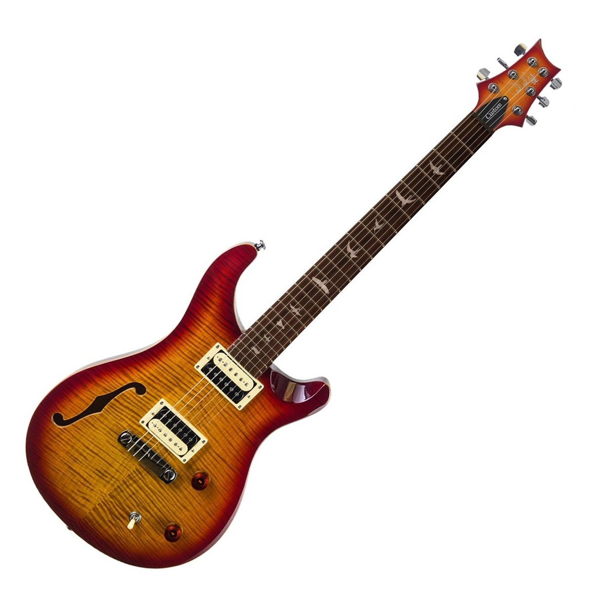 prs se custom 22 semi hollow electric guitar dark cherry burst at. Black Bedroom Furniture Sets. Home Design Ideas