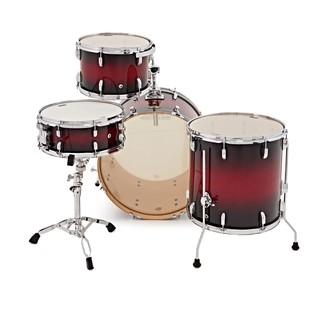 WHD Birch 4 Piece Rock Drum Kit, Red Burst