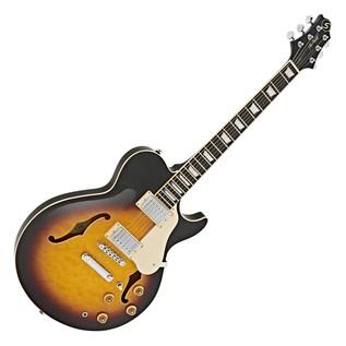 Greg Bennett Royale RL-3 Guitar + SubZero V35RG Amp Pack, Sunburst