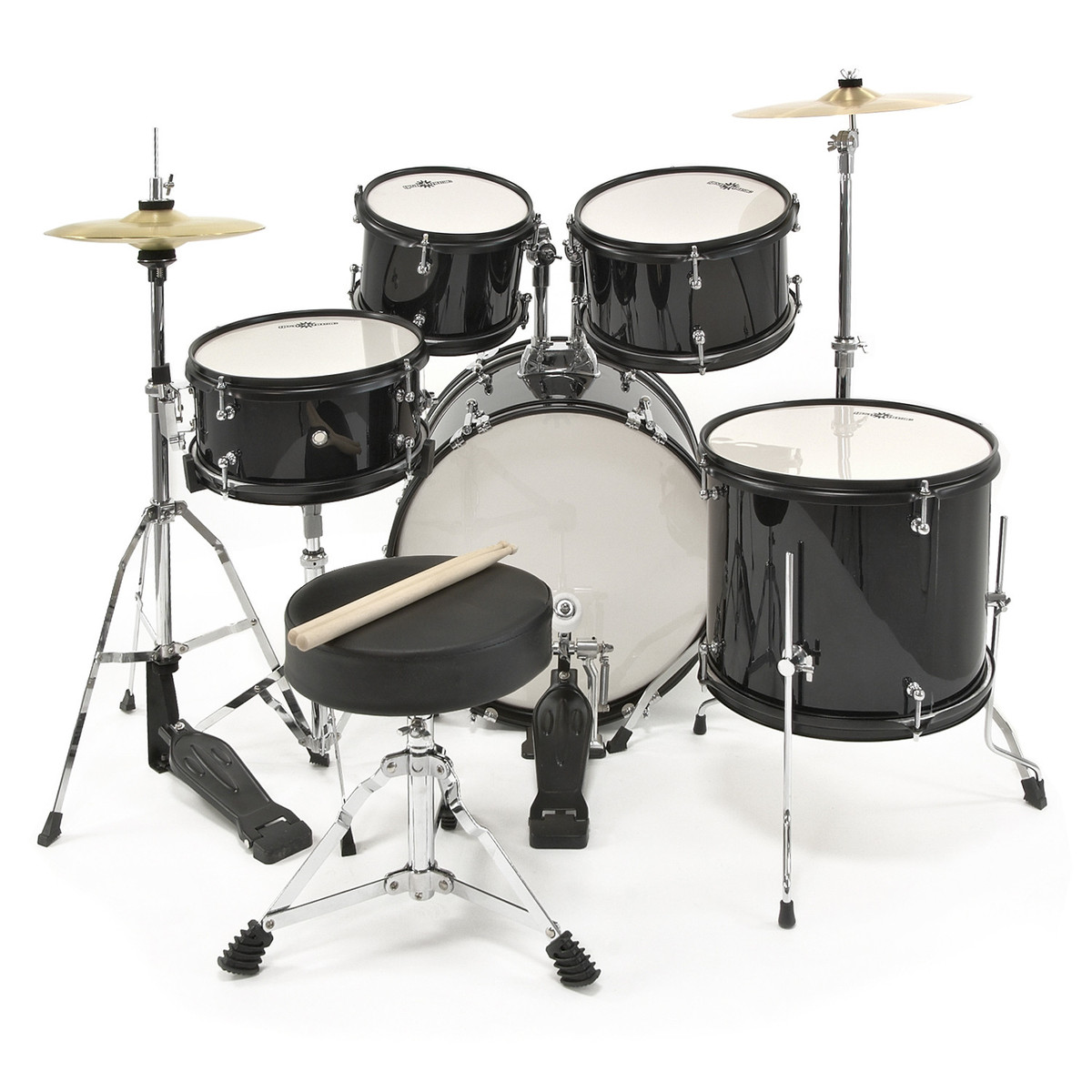 Junior 5 Piece Drum Kit By Gear4music Black Box Opened