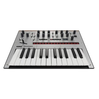 Korg Monologue Analogue Synthesizer, Silver - Front