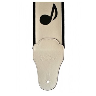 Right On Straps BASSMAN Stevie Guitar Strap, White