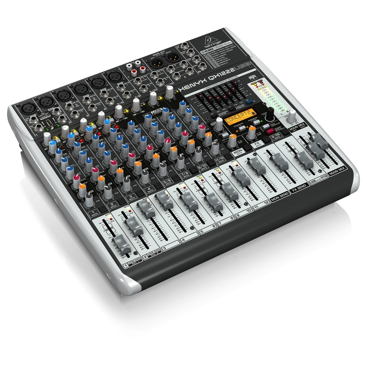 behringer xenyx qx1222usb small format analog mixer at. Black Bedroom Furniture Sets. Home Design Ideas