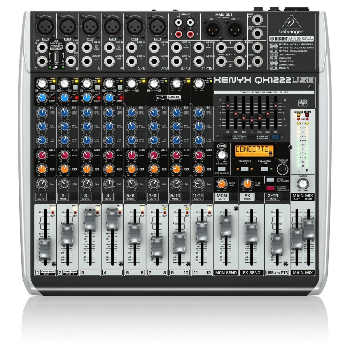 Behringer xenyx qx1222usb table de mixage analogique petit - Table de mixage virtuel gratuit en francais ...