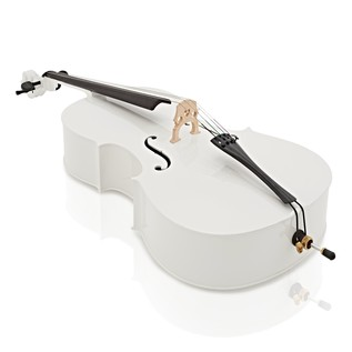 Student 44 Size Cello with Case by Gear4music, White