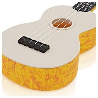 Makala Waterman MK-SWS/OR Soprano Ukulele, Swirl Orange