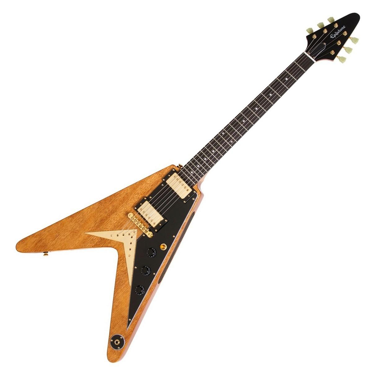 epiphone ltd ed korina flying v electric guitar natural at. Black Bedroom Furniture Sets. Home Design Ideas