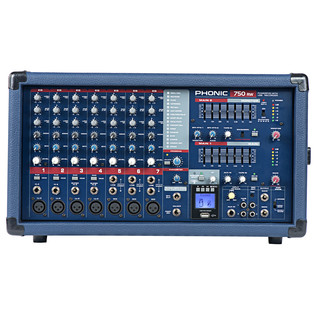 Phonic Powerpod750RW Powered Mixer With USB Recorder & Bluetooth