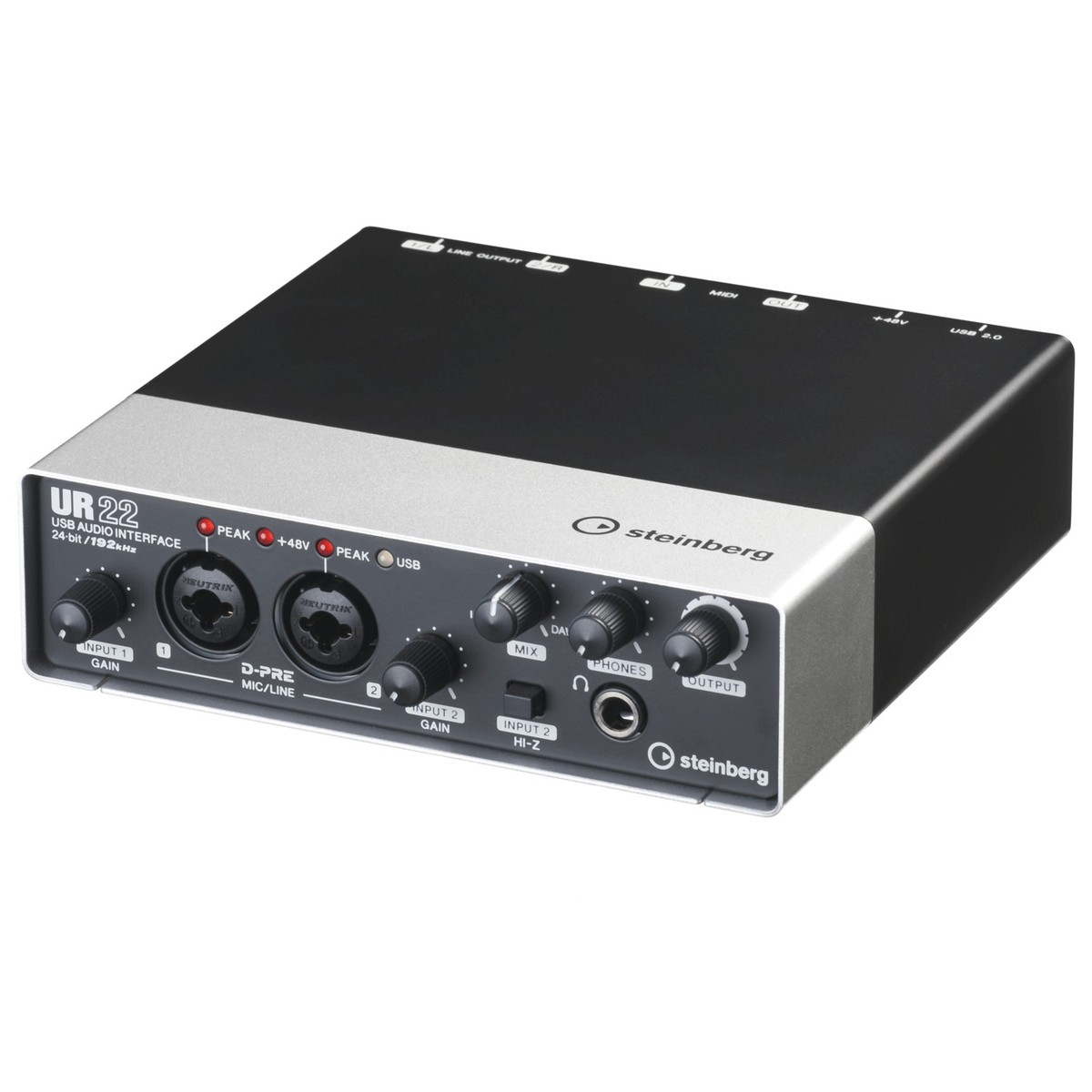 steinberg ur22 mk 2 usb audio interface box opened at. Black Bedroom Furniture Sets. Home Design Ideas