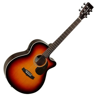 Tanglewood TW7 Super Folk Cutaway Electro Acoustic Guitar, Tobacco