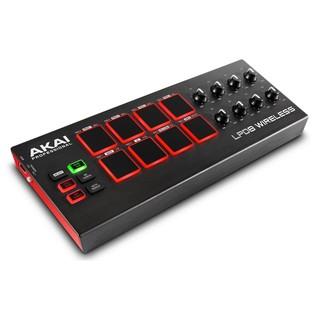 Akai LPD8 Wireless MIDI Controller - Angled