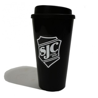 SJC Custom Drums Travel Mug, Black with White Logo