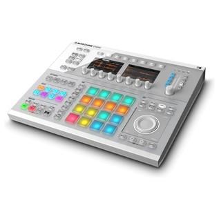 Native Instruments Maschine Studio with Komplete 11 ULT, White - Maschine Studio Angled