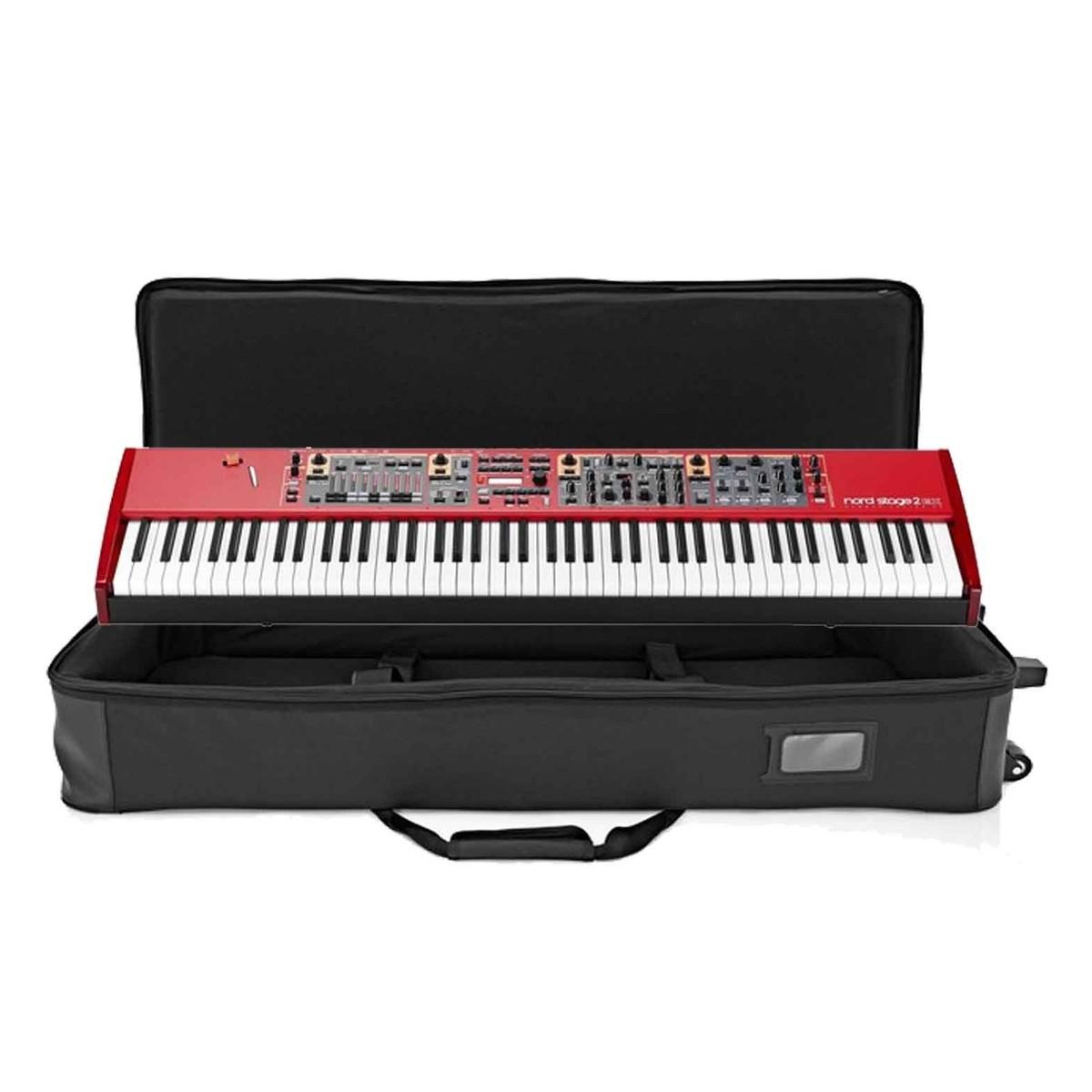 nord stage 2 ex 88 and lightweight keyboard case with wheels at. Black Bedroom Furniture Sets. Home Design Ideas