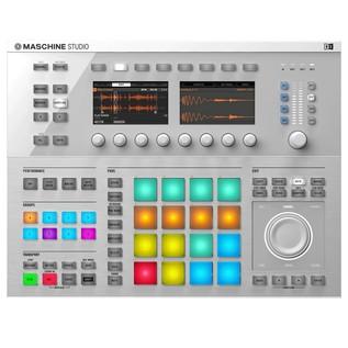 Native Instruments Maschine Studio with Komplete 11, White - Maschine Top