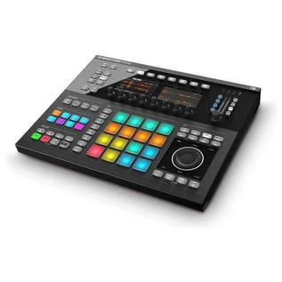 Native Instruments Maschine Studio with Komplete 11 ULT, Black - Maschine Angled