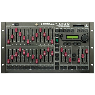 Behringer LC2412 Eurolight Professional 24-Channel Lighting Console (Front)