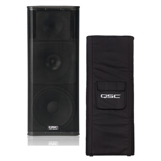 QSC KW153 Active PA Speaker with Padded Cover