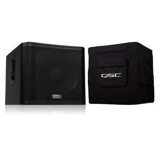 QSC KW181 Active PA Subwoofer with Padded Cover