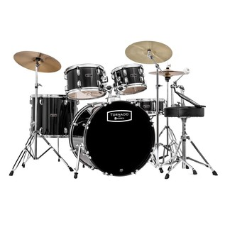 Mapex Tornado III 22'' Rock Drum Kit, Black with Extra Crash