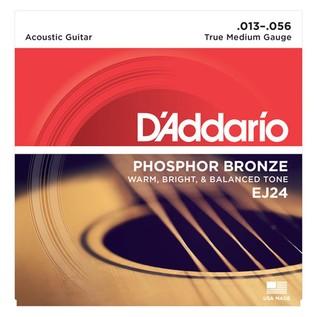 DAddario EJ24 Phosphor Bronze, True Medium, 13-56