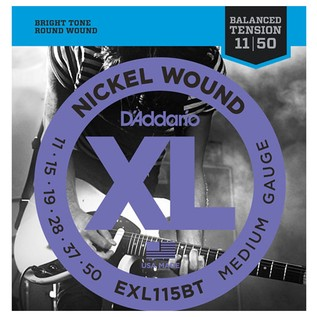 DAddario EXL115BT Nickel Wound, Balanced Tension Medium, 11-50