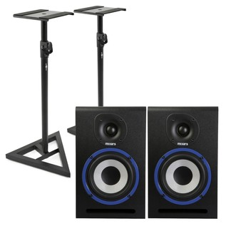 Mixars MXM5 Studio Monitors with Stands - Bundle