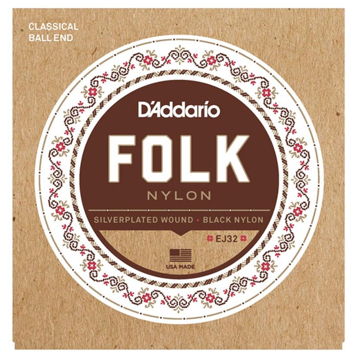D'Addario EJ32 Folk Nylon Classical Guitar Strings with ...