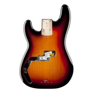 Fender USA Precision Bass Body, LH 3-Colour Sunburst
