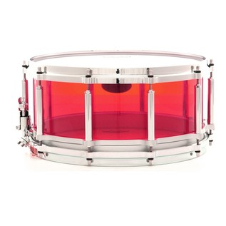 Pearl Crystal Beat 14x5 Acrylic Free Floating Snare Drum, Ruby Red