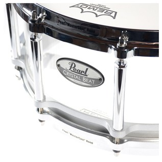 Pearl Crystal Beat 14x5 Acrylic Free Floating Snare Drum, Ultra Clear