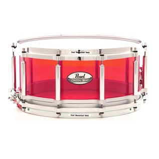 Pearl Crystal Beat 14x6.5 Acrylic Free Floating Snare, Ruby Red